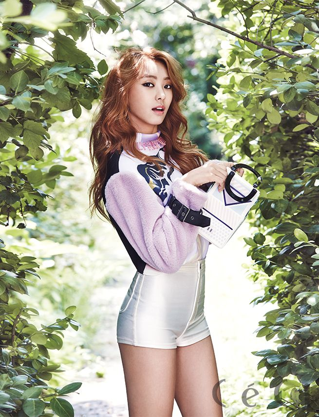SISTAR's Bora CéCi Korea Magazine September 2014