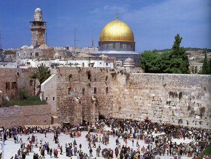 ユダヤ教の聖地「嘆きの壁」エルサレム旧市街