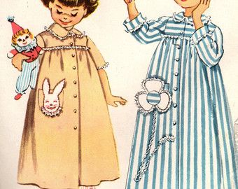1960s Simplicity 3375 Vintage Sewing Pattern Girl's