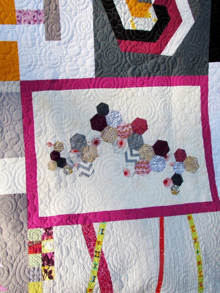 My traveling quilt is complete....and I love every part of it.