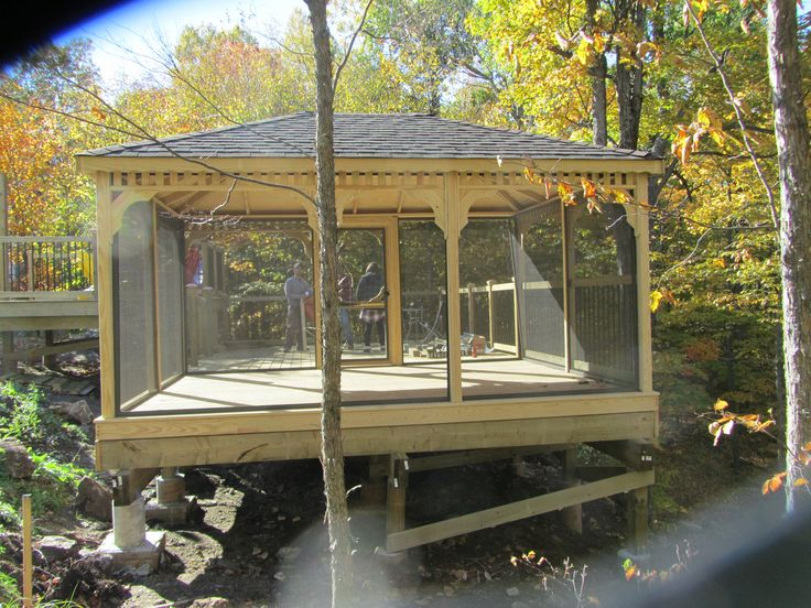 Gazebos and Pergolas - This Wooden Rectangular Gazebo was built on the edge  of a hill - 17 Best Images About Gazebos And Pergolas On Pinterest Canada