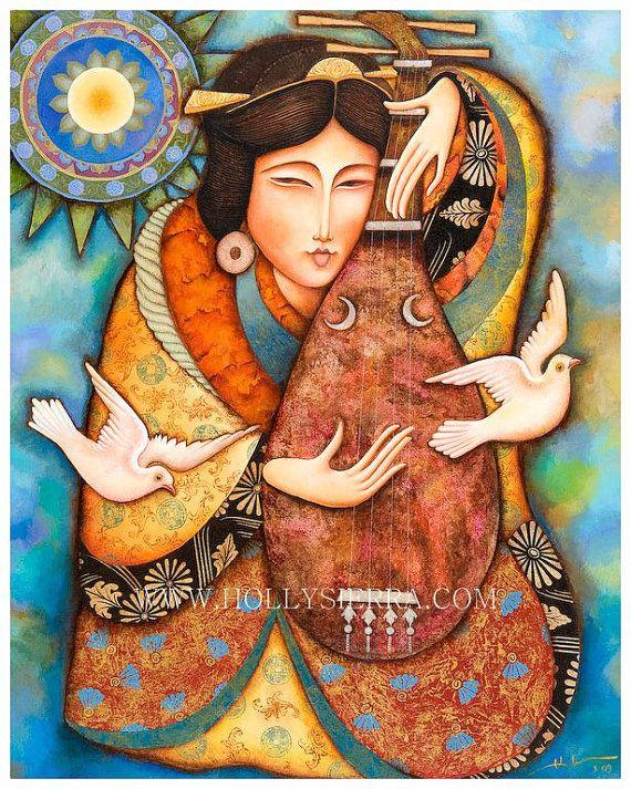 Benzaiten  The Japanese Goddess Of Music by Holly Sierra Art on Etsy.