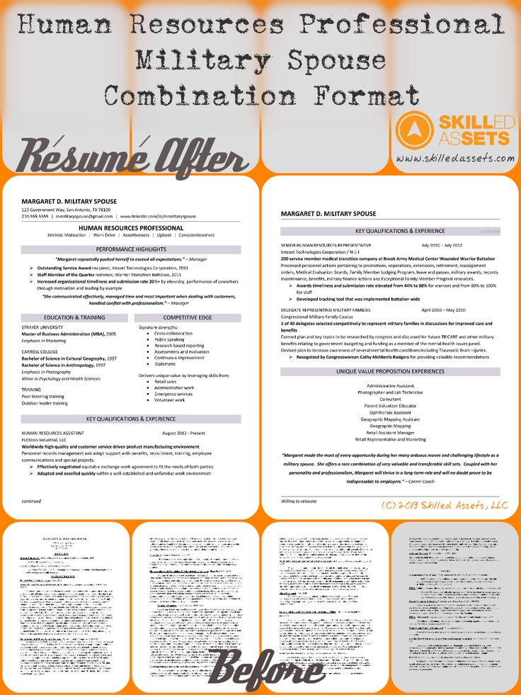 Before and After Resume for Margaret D Military Spouse - Human - human resources resumes