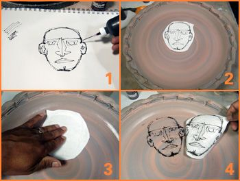 simple instructions on transferring your drawings with simple supplies