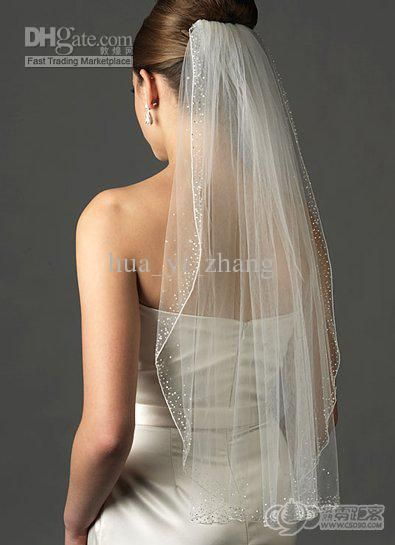 Wholesale Bridal Veil - Buy - 2013 Elegant One Layer Tulle Short Veils White Ivory Wedding Veil Waist Length Bridal Veil ZJ229, $27.19   DHg...