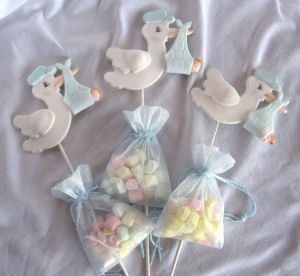 Stork candy favors