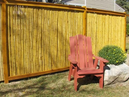Bamboo privacy screen frontyard backyard pinterest for Porch screen panels home depot
