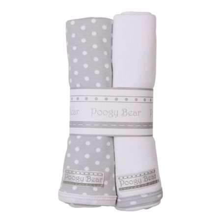 Poogy Bear | Baby Clothing & Accessories Grey Polka Dot Swaddling Blanket Set