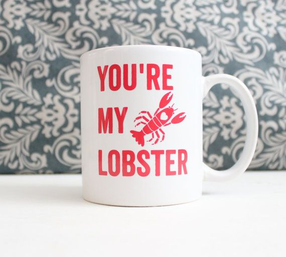 You're My Lobster  Valentines Day cute coffee by TheSilverSpider