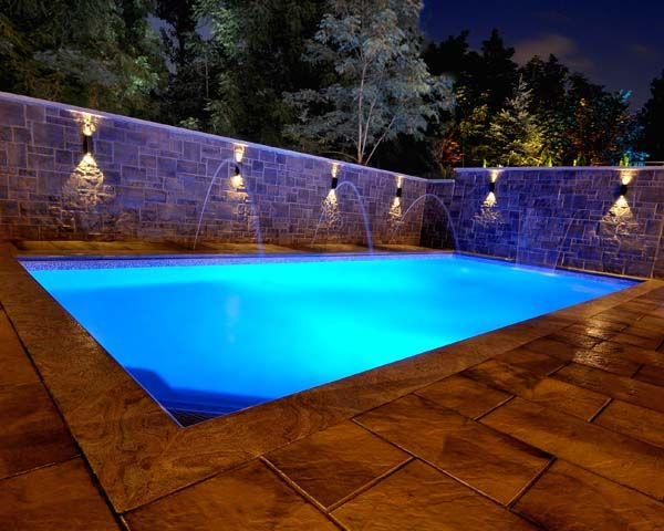 Inground swimming pool designed and built by Buds Spas  Pools.