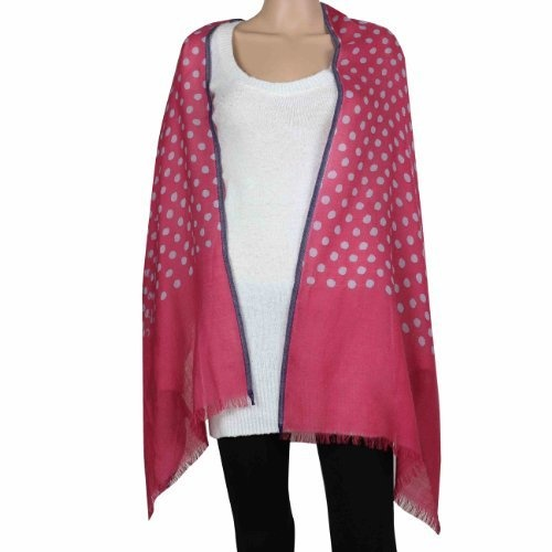 Amazon.com: Indian Red Scarf Wool Women Accessories Polka Dots Wraps And Shawls: Clothing