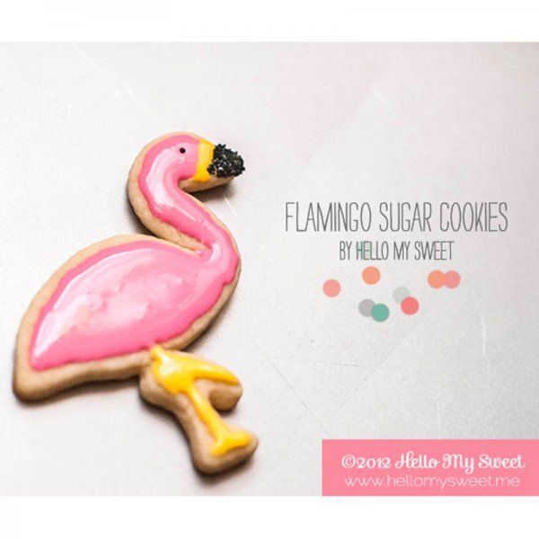 Flamant gourmand, biscuit flamant rose / pink flamingo cookies