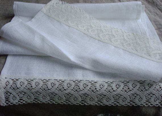 WHITE LINEN Table runner natural Linen runner by LinenWoolRainbow