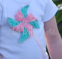 Lace Petti Pinwheel top by Chic Baby Rose - Handmade in the USA. $26.95