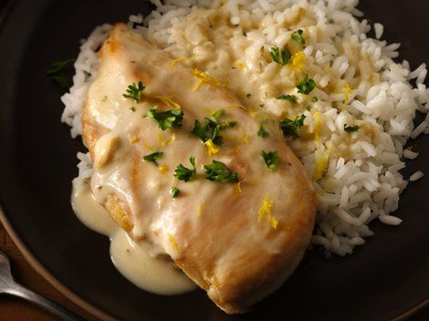 Creamy Lemon Chicken - Enjoy this citrusy chicken topped with Progresso™ Recipe Starters™ cooking sauce mixture and served with rice – a delicious dinner ready in 30 minutes.