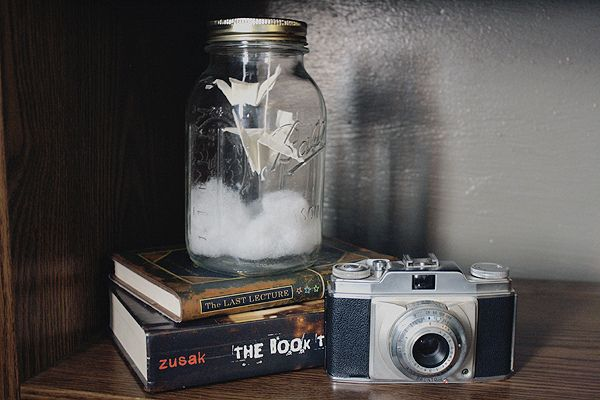 Cute idea for mason jars that are laying around
