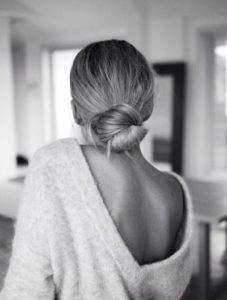 Hair inspiration for messy buns.