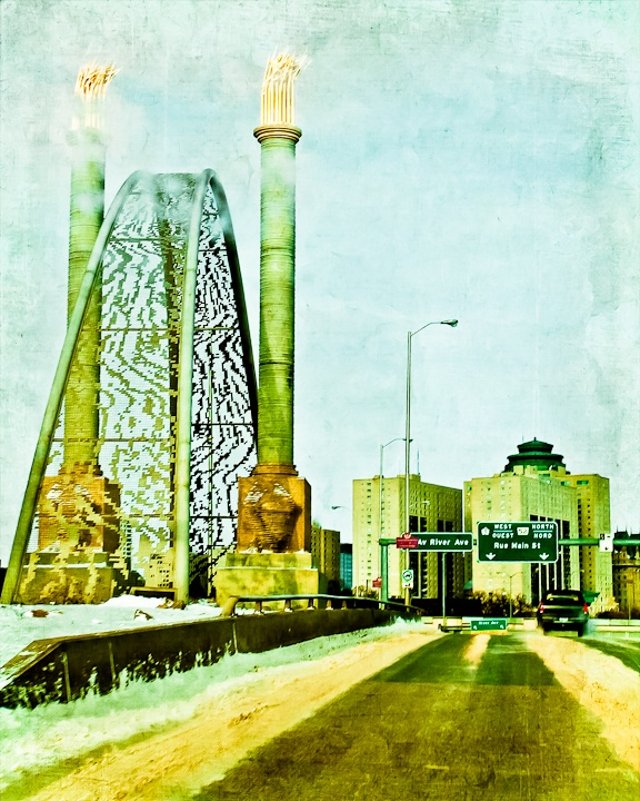 Norwood Bridge, Winnipeg - Image by Carla Dyck