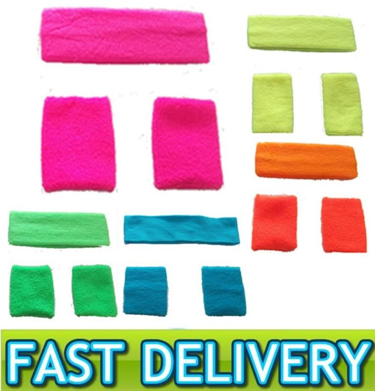 NEON UV HEADBAND + 2 WRISTBANDS SWEATBANDS 1980S FANCY DRESS HEN STAG NIGHT | eBay