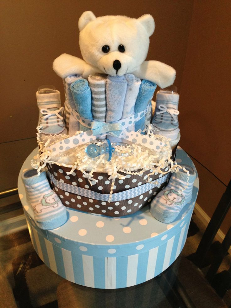 Baby boy Diaper Cake for baby shower gift or by AFabulousEvent, $45.00