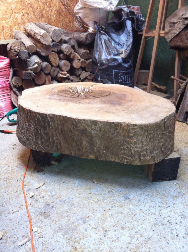 Rebanada de tronco de árbol
