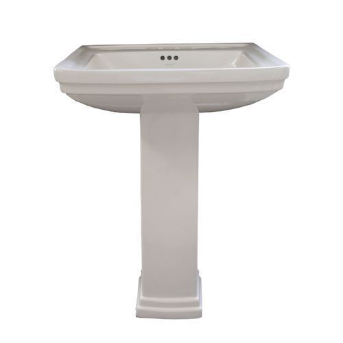 98 Aquasource White Wallmount Square Bath Sink Squarebathsink Modern Bathroom Sink Pedestal Sink Sink