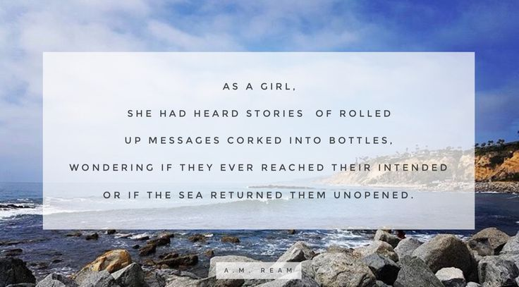 """""""Letters to the Ocean""""  by a.m. ream"""