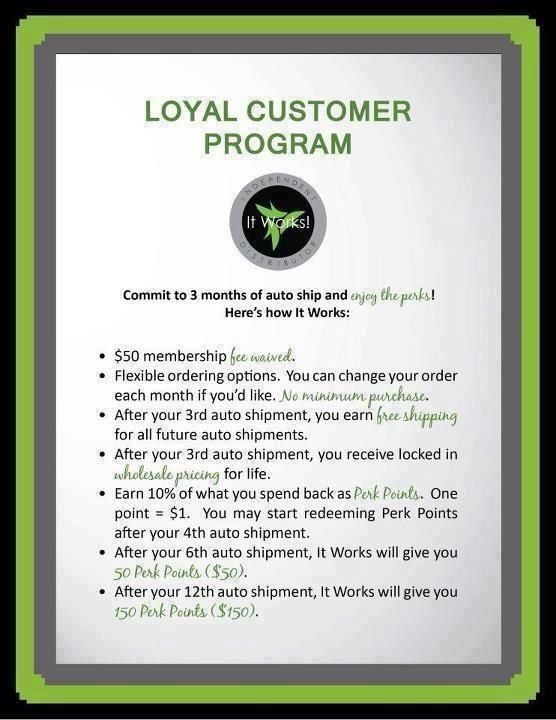 OUR LOYAL CUSTOMER PROGRAM RULES! It pays to be loyal. wrapnangel.myitworks.com angelwraps56@yahoo.com  Text me @ 816-813-1579