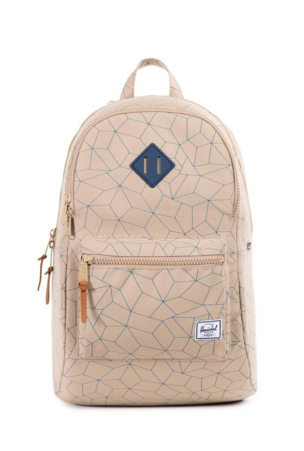 Chic Gym Backpack: Herschel Supply Heritage Backpack in Khaki Sequence