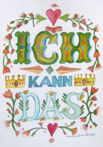 Grußkarte - Ich kann das - Motivation von Maren Schmidt auf DaWanda.com