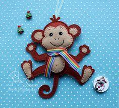 обезьянка своими руками из фетра - Поиск в Google