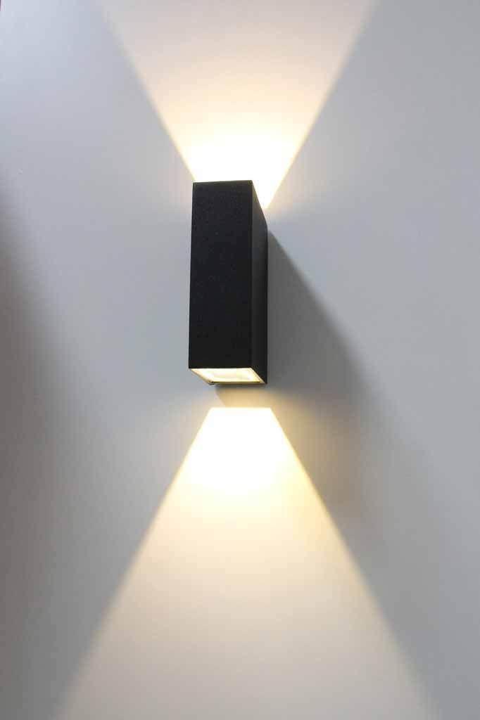 6 Watt Black Finish Up And Down Outdoor Led Wall Light Etsy In 2020 Wall Lights Exterior Wall Light Solar Wall Lights