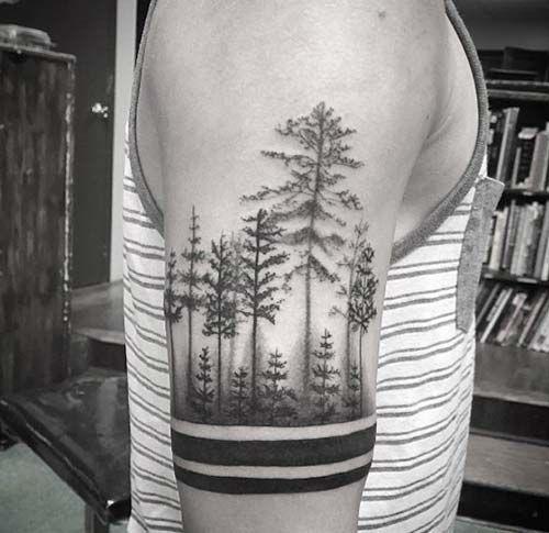 orman kol dövmeleri erkek forest armband tattoos for men
