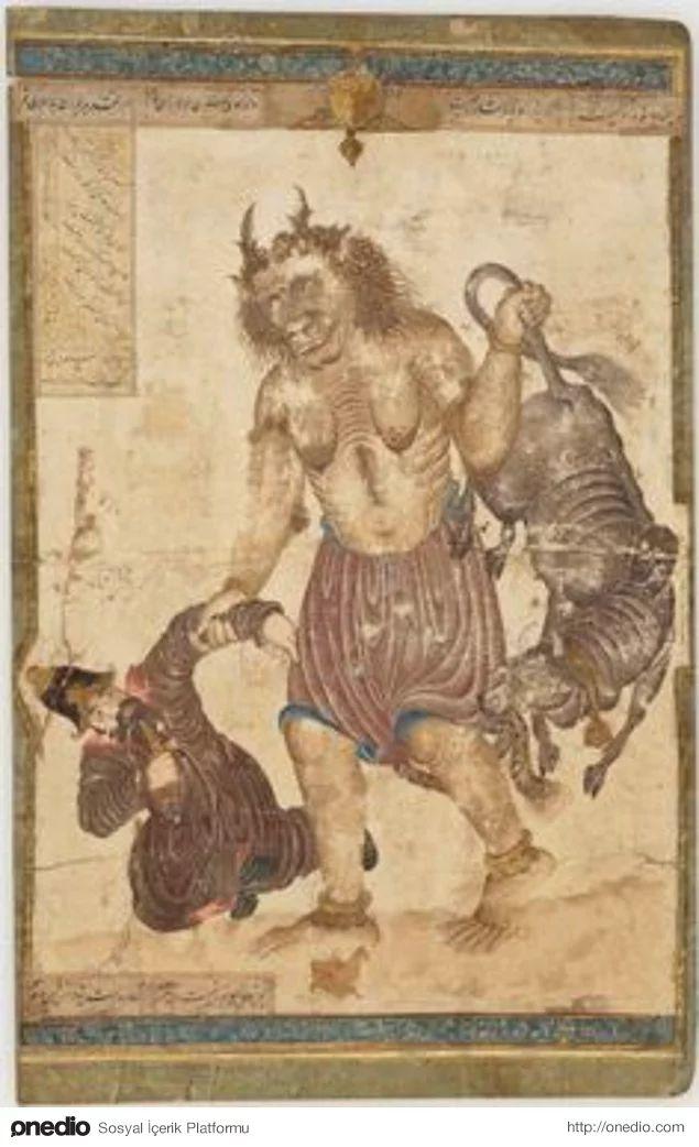 Devlerin ve demonların özellikleri ve hayatı detaylıca tasvir edilmiştir.