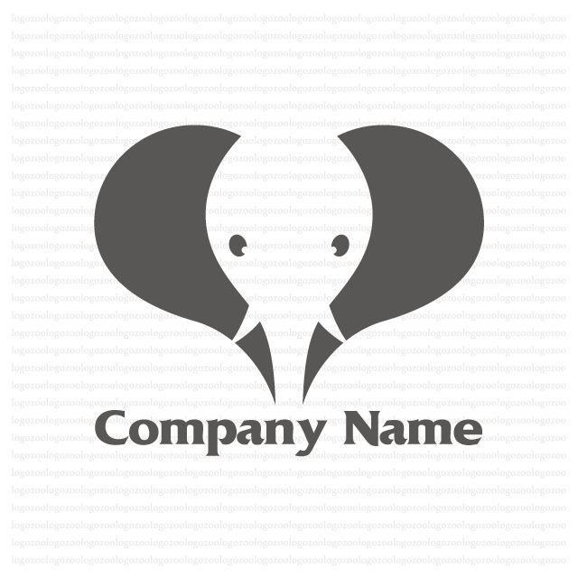 象の顔をモチーフに作成したロゴマークデザイン、サイン 購入用マークデザイン制作販売
