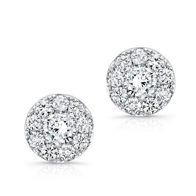At Anne Sisteron Fine Jewelry, Buy 18kt white gold diamond stud earrings online