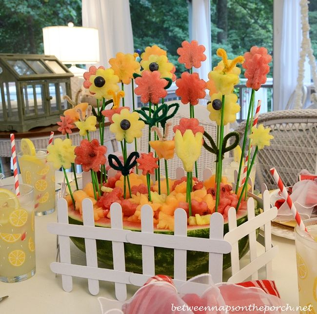 Creative centerpieces for the spring or summer table