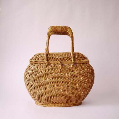 タイの民藝 籐組籠バッグ | タイ工藝ムラカ