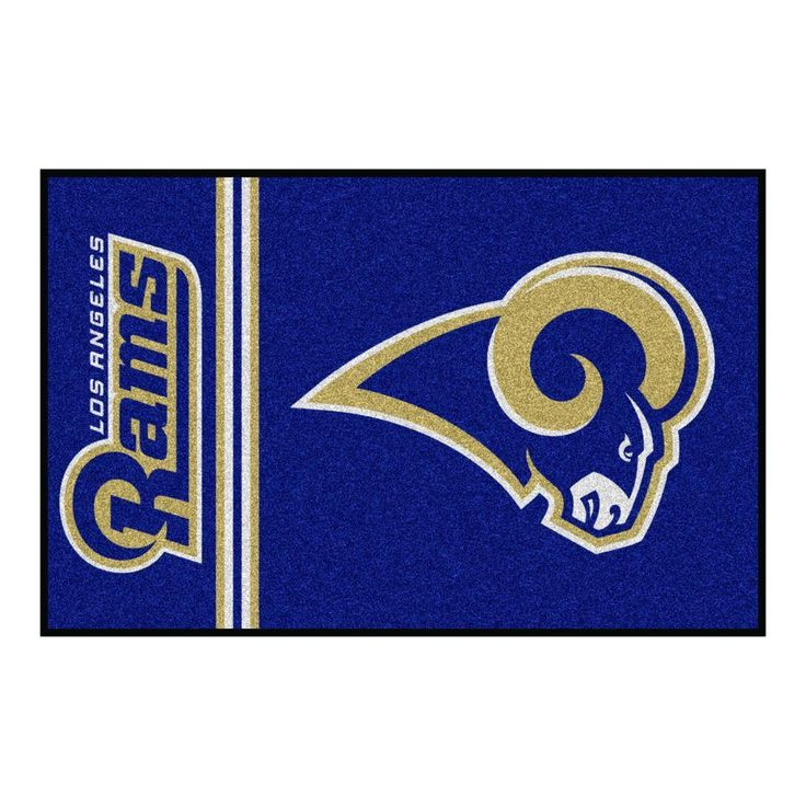 NFL Los Angeles Rams Blue Uniform Inspired 1 ft. 7 in. x 2 ft. 6 in. Accent Rug