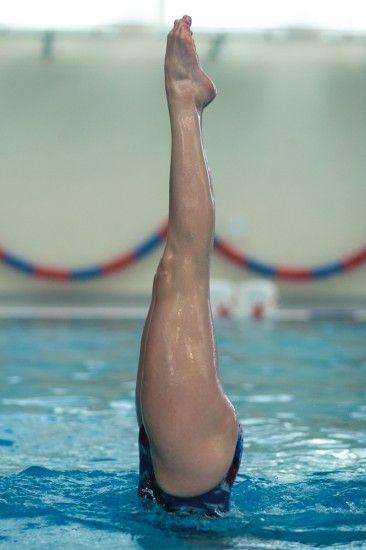 Swimming dive legs.
