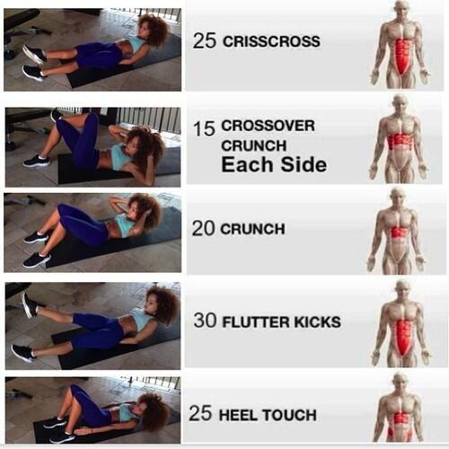 Bauchmuskel ohne Geräte