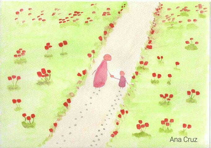 Disfrutando del camino #dibujo #acuarela