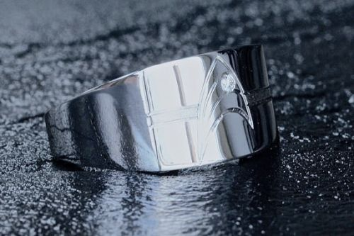 Star Trek Wedding Band A Mens Ring From Etsy Shop VaLaJewellery Hand Engraved With The Star