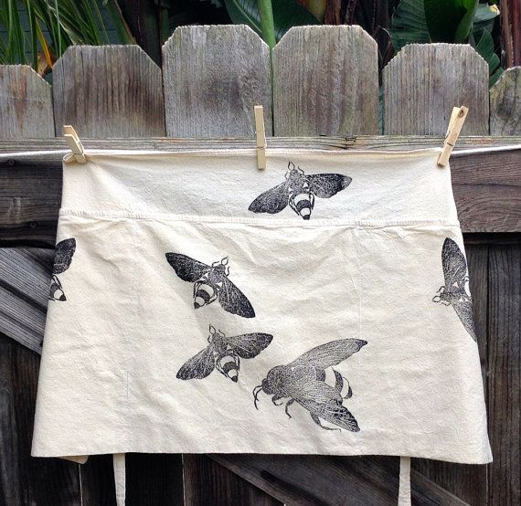 Bugs In The Garden Flour Sack Apron By Dishragstudio On Etsy