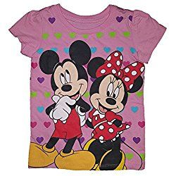 Disney Mickey and Minnie Mouse Heart Background Valentine's Day T-Shirt