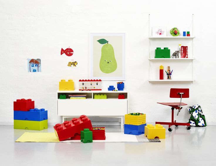 Brighten up kids' playrooms with these big and bold Lego Storage Boxes from Nubie. https://www.nubie.co.uk/playroom-furniture/toy-storage/large-lego-storage-boxes