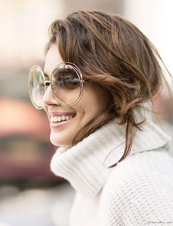 Follow Rent a Stylist http://www.pinterest.com/rentastylist/ Winter Sunglasses, Chloé / Garance Doré