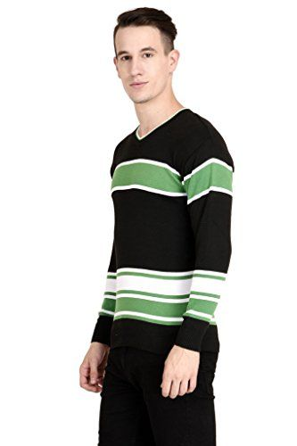 NEUVIN Pullover Woollen Black-Green Striped Cardigan | Cardigans Sweaters Clothing and Accessories Men | Best news and deals!