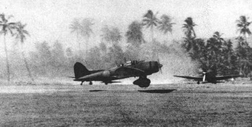 Aichi Dive Bomber in Rabaul, 1942.