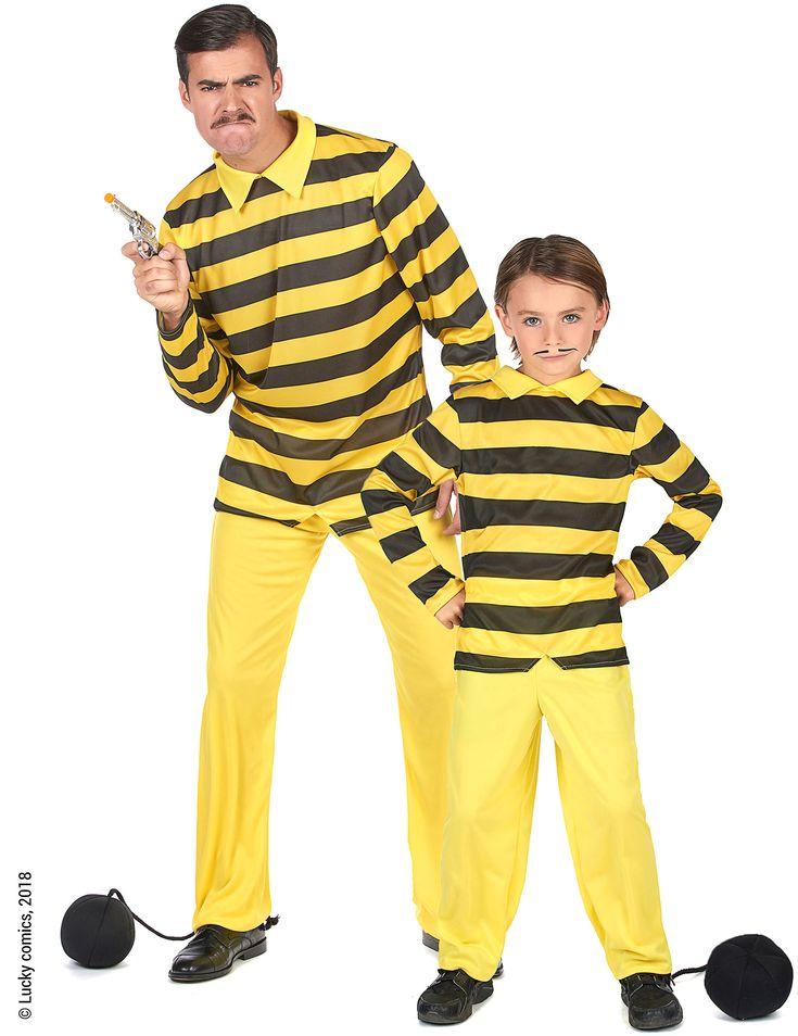 Déguisement de couple Dalton père et fils- Lucky Luke™ : Ce déguisement de couple Dalton père et fils, sous licence officielle Lucky Luke™ comporte deux déguisements identiques, un en taille enfant et l'autre en taille...